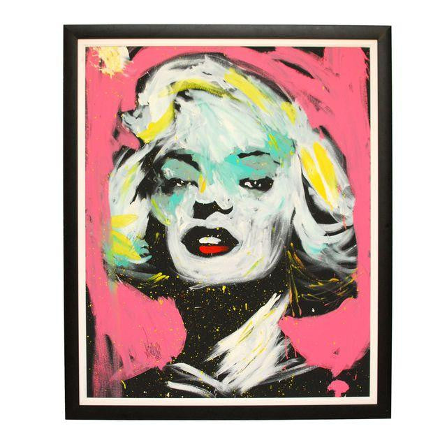 Huge Contemporary Original Marilyn Monroe Painting on Canvas