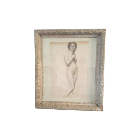 Original Framed Victorian Nude Portrait Art