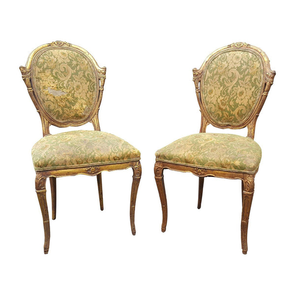 French Country Pair of Antique Accent Chairs