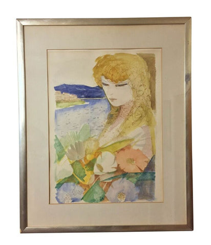 Original Charles Levier Framed Watercolor Painting