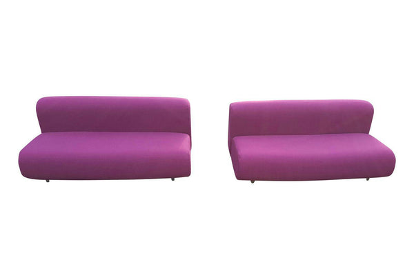 Pair of Raspberry Knoll Suzanne Sofas