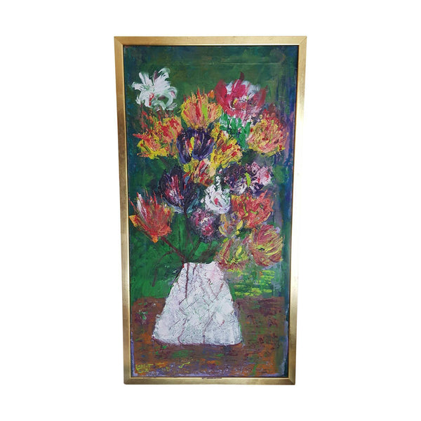 Original Vintage Boho Still Life Oil Painting