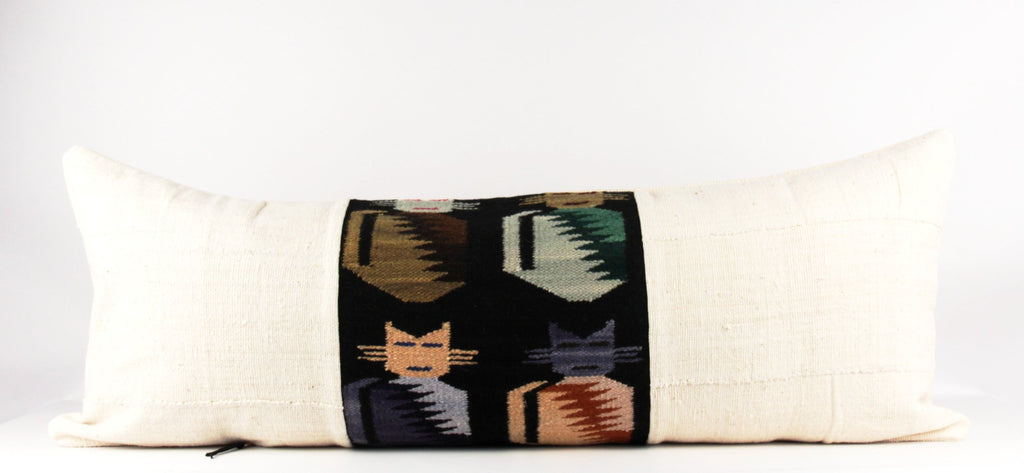 Robo Cats Pillow  Large Lumbar