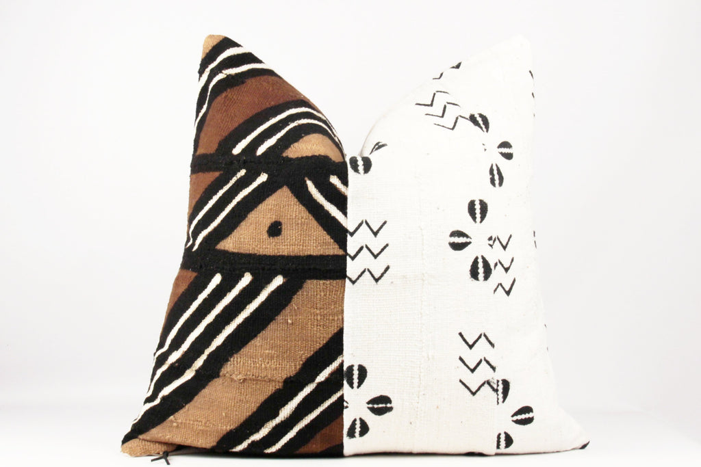 mixed African mudcloth pillow 22