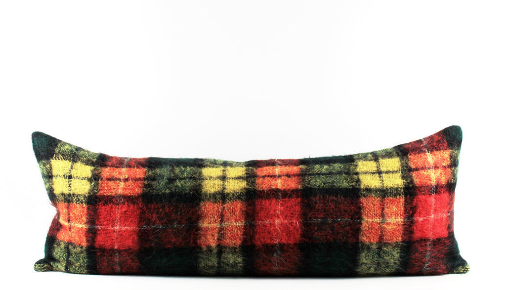 plaid mohair wool bed pillow