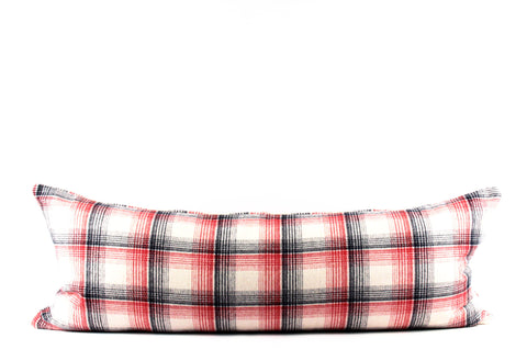 1950's wool plaid pillow