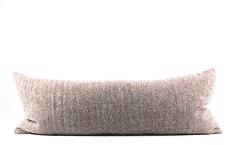 brown wool lumbar pillow