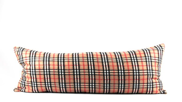 Classic Check   (solid back) Large Lumbar