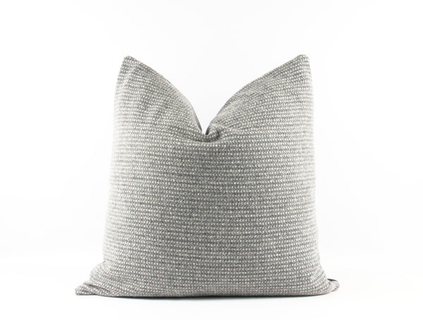 Heather grey wool throw pillow