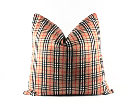 nova check accent pillow