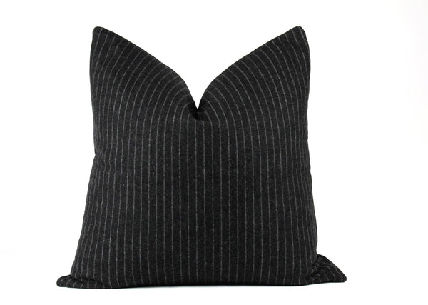 Pin stripe wool throw pillow
