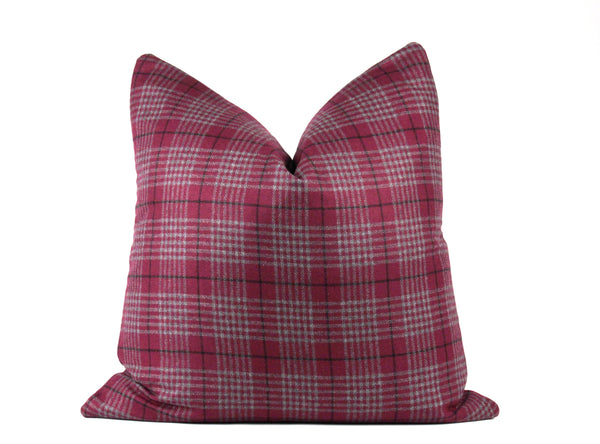Designer purple gingham euro pillow