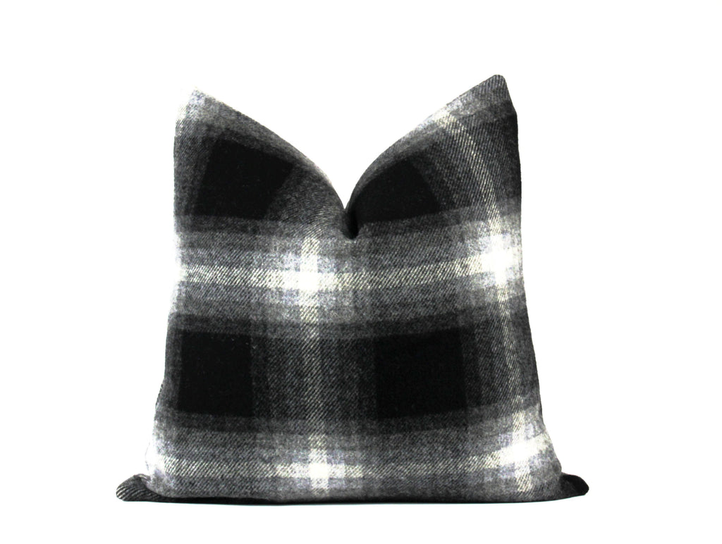 Black buffalo plaid throw pillow 22