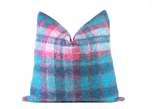 Pastel mohair euro throw pillow