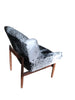 Early Jens Risom Cowhide Lounge Chair side