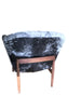 Early Jens Risom Cowhide Lounge Chair back