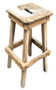 Vintage Industrial Wooden Hand Made Shop Stool