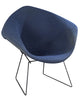 Pair Knoll Bertoia Blue Diamond Chairs Vintage