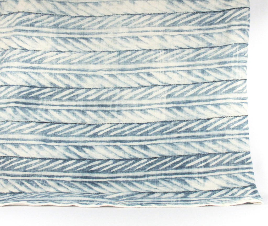 Jungle in Blue Mudcloth Throw Blanket front
