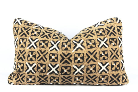 Serengeti Mudcloth Pillow  Medium Lumbar front