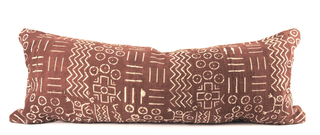 Concord Mudcloth Pillow Large Lumbar Spilled Paint Design
