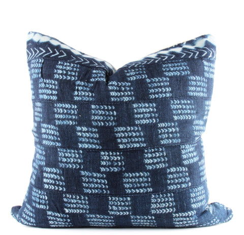 Arrows Indigo Mudcloth Pillow  22