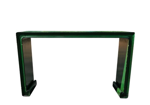Green Oriental Console Table front