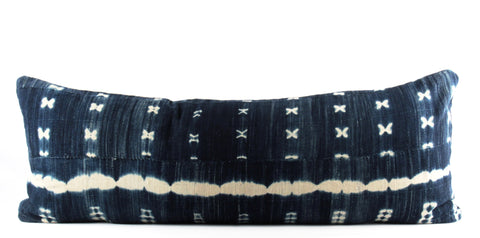 Waves XO Mudcloth Pillow  Large Lumbar front