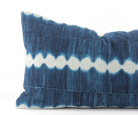 Rain Mudcloth Pillow  Small Lumbar detail