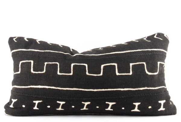 Directional Mudcloth Pillow  Small Lumbar front