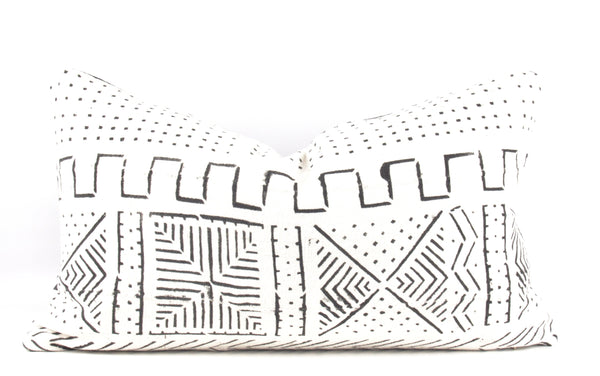 Space Mudcloth Pillow  Medium Lumbar front