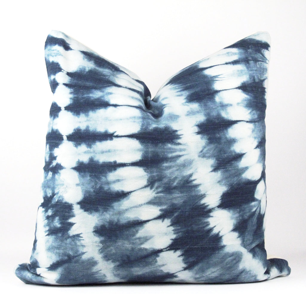 Blue Shibori Mudcloth Pillow  22