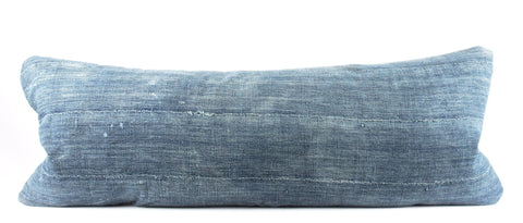 Mid and Spotted Indigo Mudcloth Pillow  Large Lumbar front