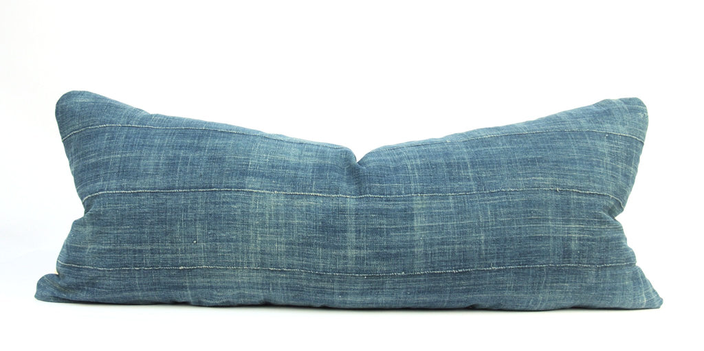 Blue Moon Mudcloth Pillow  Large Lumbar