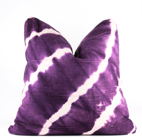 Purple Shibori Mudcloth Pillow  24