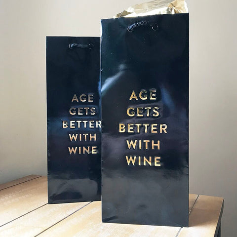 Age Gets Better With Wine Gift Bag - Steel Petal Press