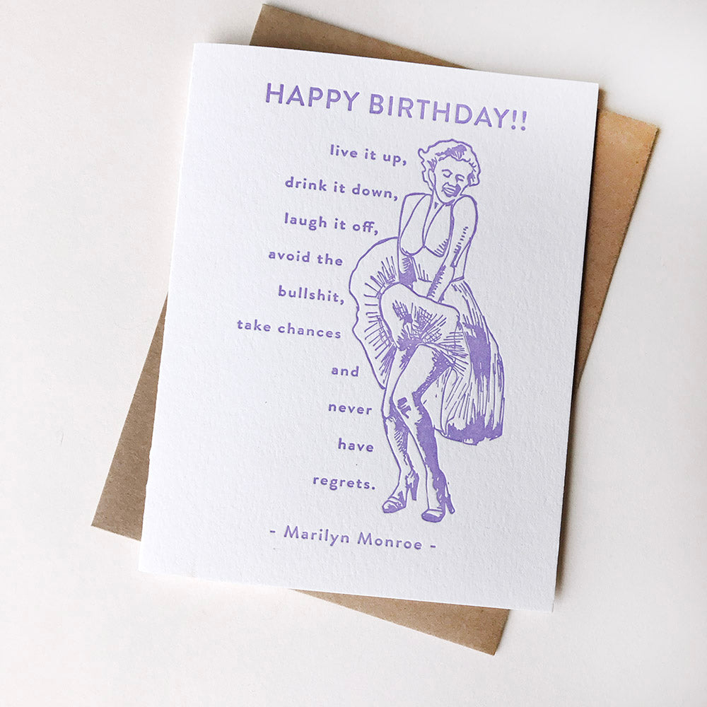 Marilyn Monroe Birthday - Steel Petal Press
