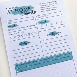 At Home Tracker - Steel Petal Press