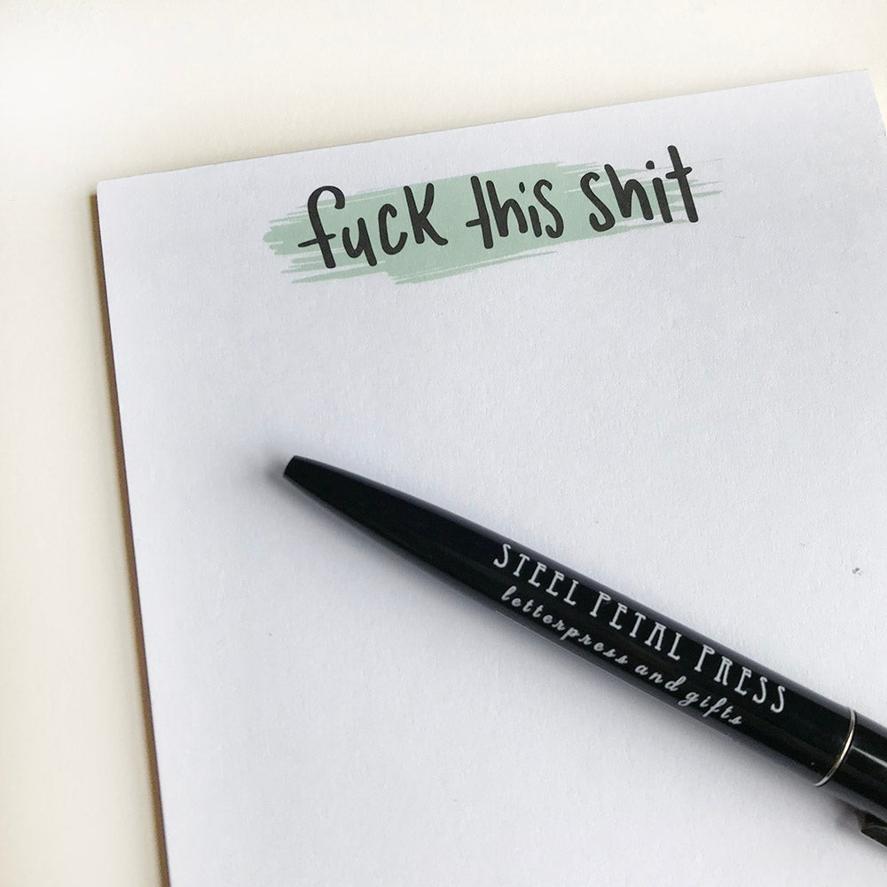 Fuck This Shit Pocket Notepad - Steel Petal Press