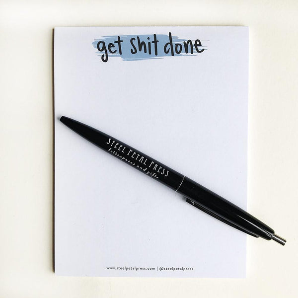 Get Shit Done Pocket Notepad - Steel Petal Press