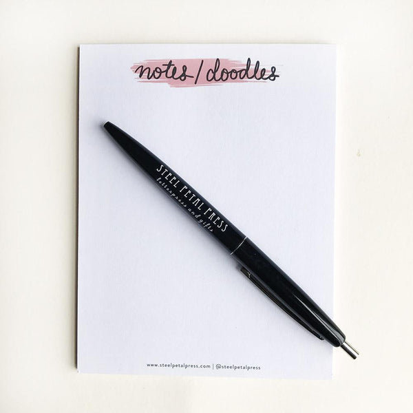 Notes Doodles Pocket Notepad - Steel Petal Press