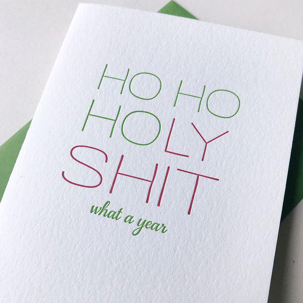 HOHOHoly Shit - Steel Petal Press Letterpress Card