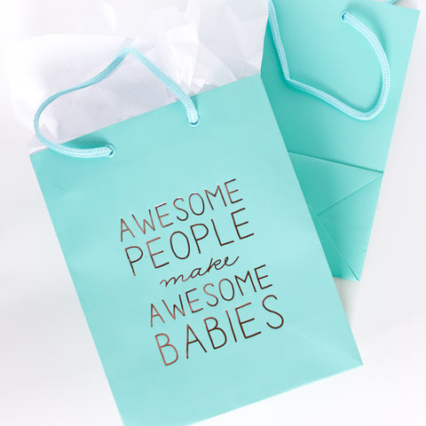 Awesome Babies Gift Bag - Steel Petal Press