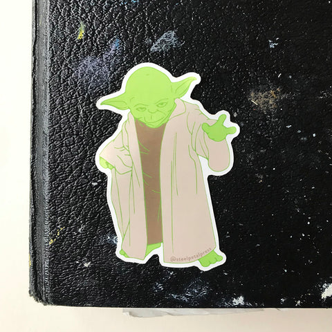 Yoda Sticker - Steel Petal Press
