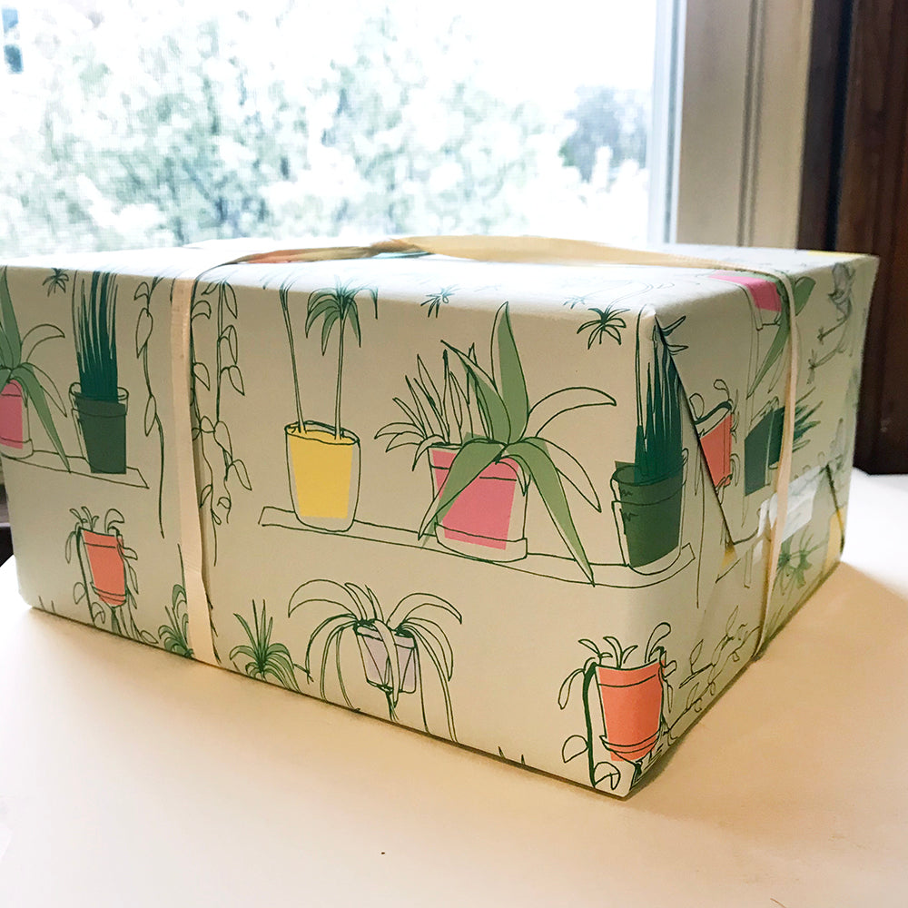 House Plants Gift Wrap