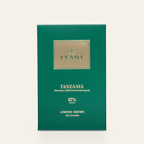TANZANIA, KILOMBERO KAFFIR LIME AND LEMONGRASS 67% | DARK CHOCOLATE