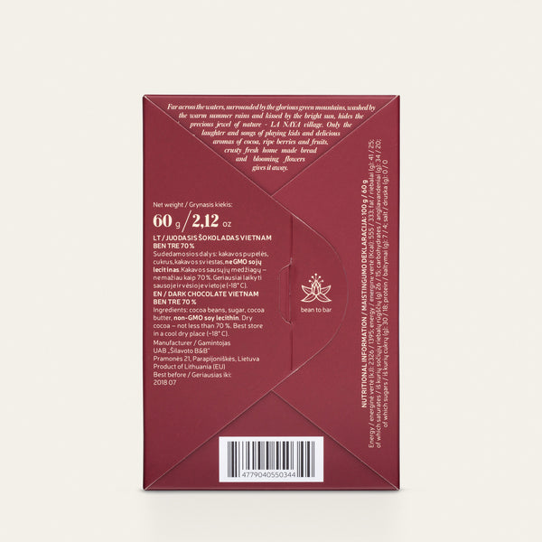 VIETNAM, BEN TRE 70% | DARK CHOCOLATE