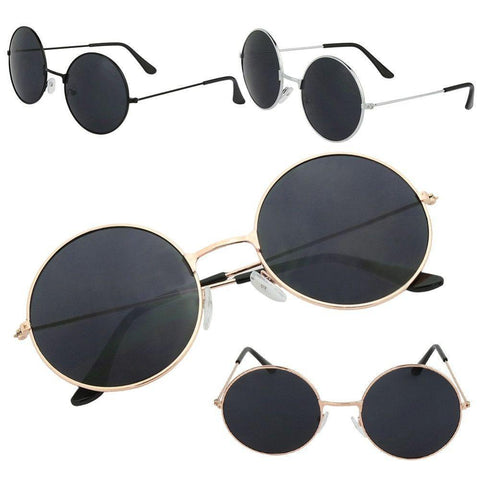 Black & Gold Round Sunnies
