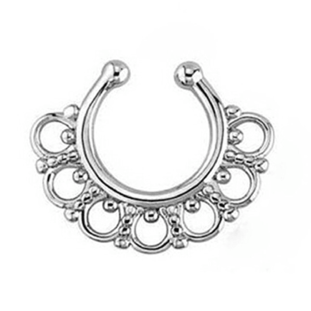 Flower Faux Septum Ring