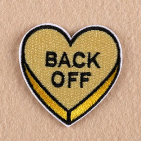 Back Off Iron On Patch